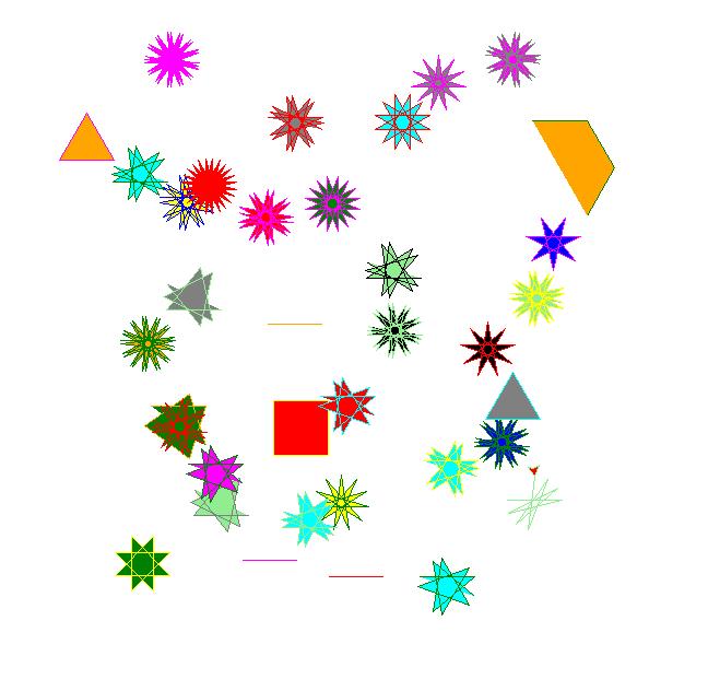 Черепашка рисует звезды