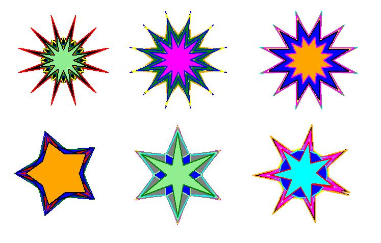 Звезды на tkinter
